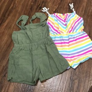Other - Lot of two little girl summer rompers - size 5.